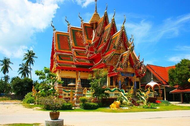 Tajlandzka kolorowa budowla