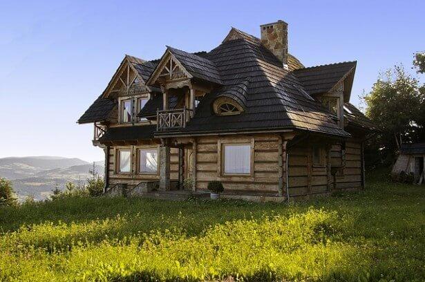 krajobraz z domem