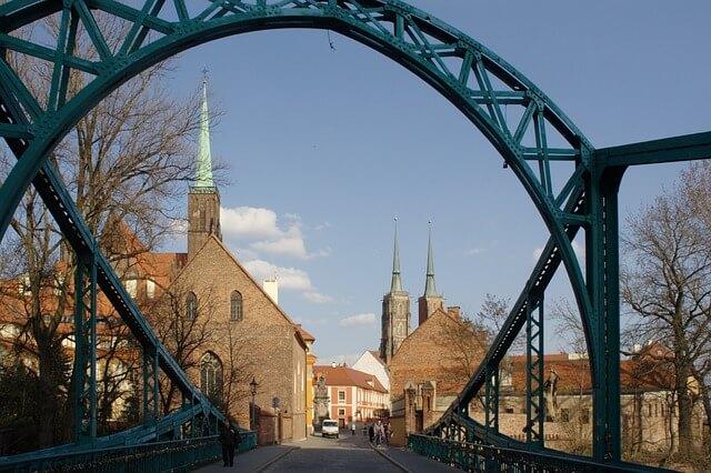 Ostrów Tumski miasto Wrocław