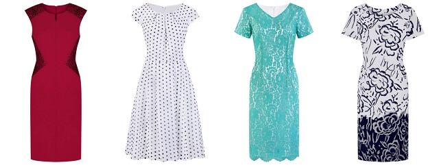 Kolorowe sukienki na wesele modbis