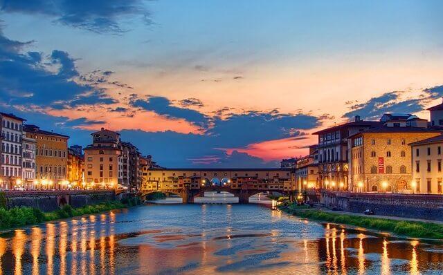 Florencja widok na rzekę