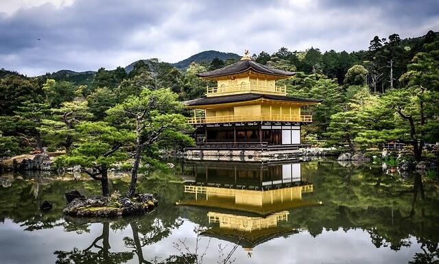 Świątynia i ogród w Kioto, Japonia