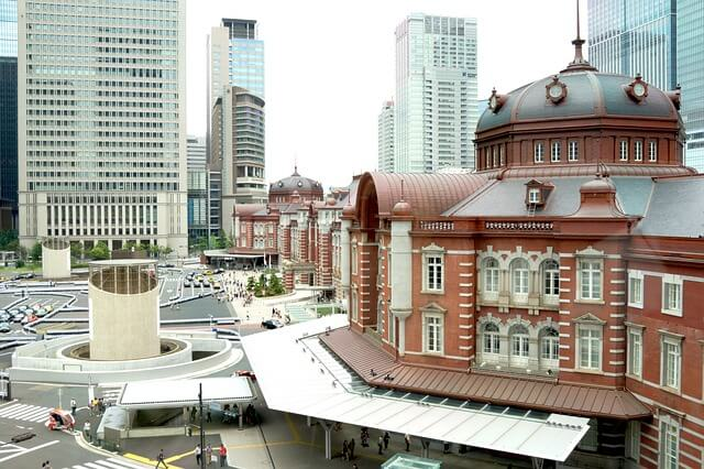 Widok na nowoczesne Tokio