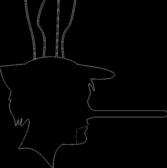 Mężczyzna z długim kłamliwym nosem