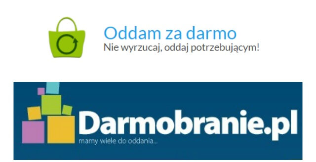 Serwisy ogłoszeniowe oddamzadarmo.pl i darmobranie.pl
